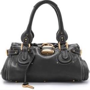 Black Chloe Paddington Lock Bag